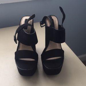 Forever 21 platform block heels
